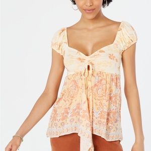 NWT Free People Babydoll Top